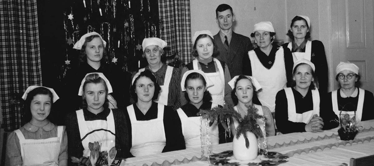 Toimelan ensimmäinen talouskurssi v. 1942, johtajana nyt Lilly Snellman